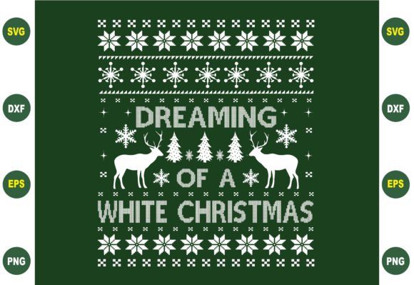 Dreaming of a White Christmas Graphic Crafts By BDB_Graphics