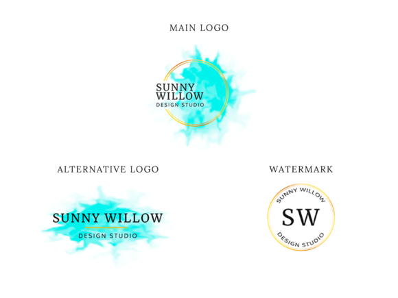 Print on Demand: Elegant Boutique Logo Design Graphic Logos By sunnywillowdesign