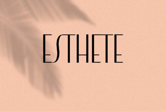 Print on Demand: Esthete Sans Serif Font By LABFcreations