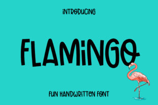 Print on Demand: Flamingo Display Font By Pila Studio