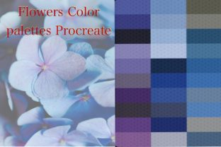 Flowers Procreate Palette Colors Graphic Add-ons By Digital ideas Art