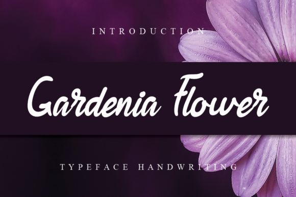 Print on Demand: Gardenia Flower Script & Handwritten Font By flowerletter