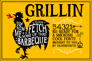 Print on Demand: Grillin Display Font By OLIVERFONTS