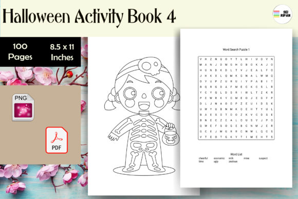 Print on Demand: Halloween Activity Book 4 - KDP Graphic KDP Interiors By Sei Ripan