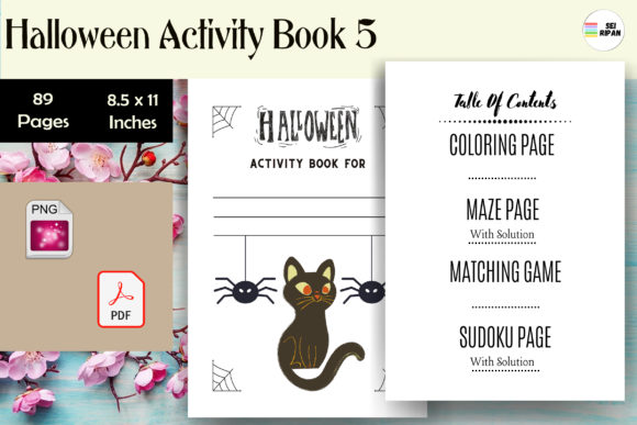 Print on Demand: Halloween Activity Book 5 - KDP Graphic KDP Interiors By Sei Ripan
