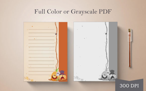 Print on Demand: Halloween Journal or Notebook Page #1 Graphic Print Templates By Digital Town