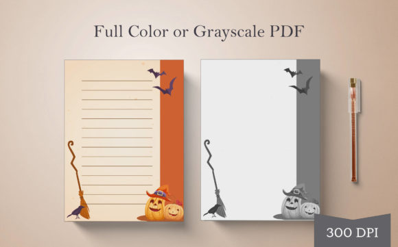 Print on Demand: Halloween Journal or Notebook Page #2 Graphic Print Templates By Digital Town
