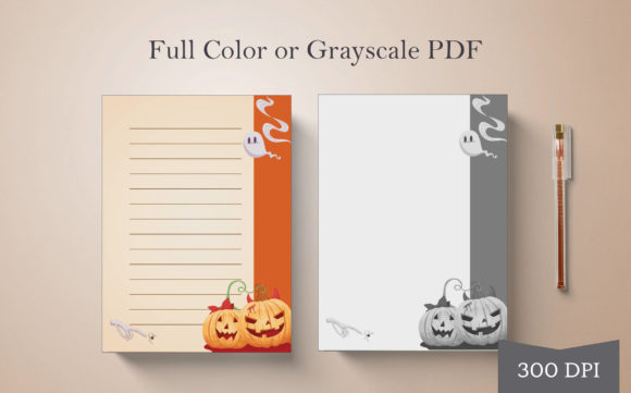Print on Demand: Halloween Journal or Notebook Page #3 Graphic Print Templates By Digital Town