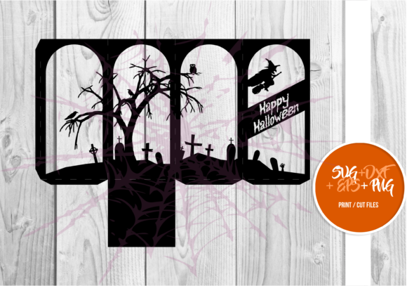 Print on Demand: Halloween Lantern Template Series 001 Graphic 3D SVG By Cerescrafts