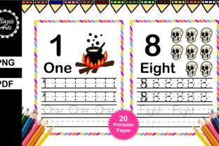 Print on Demand: Halloween Number Tracing Graphic Print Templates By ClazicArts