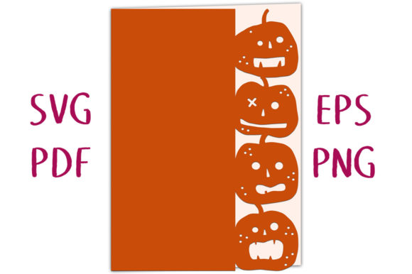 Print on Demand: Halloween Pumpkin Lantern Edged Card SVG Graphic 3D SVG By Nic Squirrell