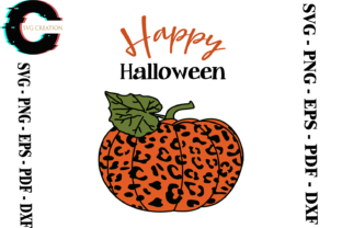 Print on Demand: Halloween Pumpkin Leopard Vector Graphic Print Templates By SVG Creation
