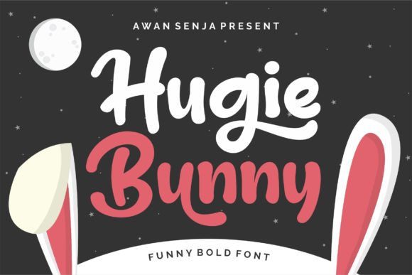 Print on Demand: Hugie Bunny Display Font By awansenja.type