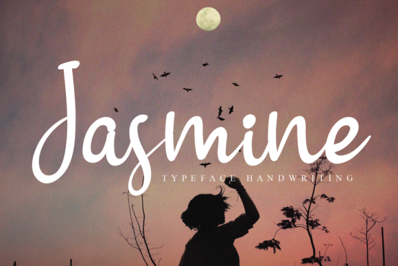 Print on Demand: Jasmine Script & Handwritten Font By LetterW26a