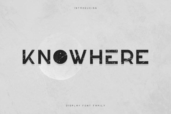 Print on Demand: Knowhere Display Font By vladfedotovv
