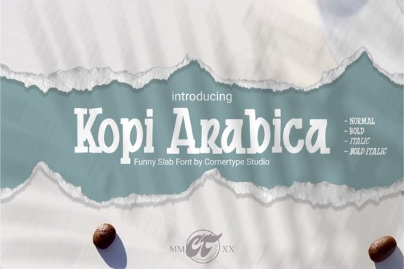 Print on Demand: Kopi Arabica Display Font By cornertypestudio