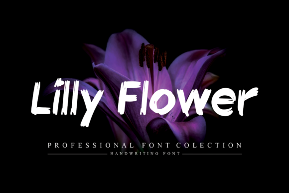 Print on Demand: Lilly Flower Display Font By flowerletter