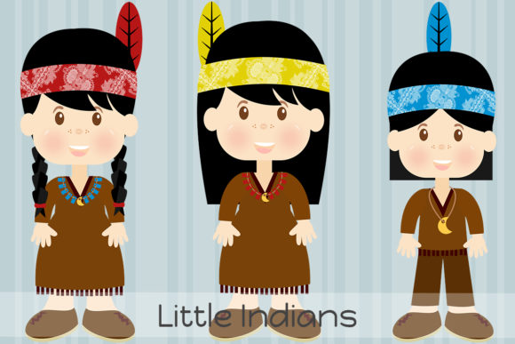 Little Indians Graphic Illustrations By Dolls To Go
