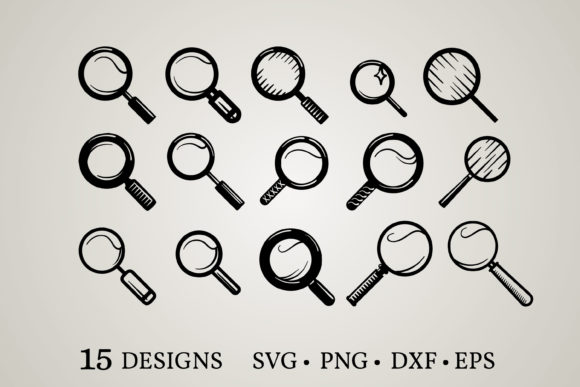 Magnifying Glass Graphic Print Templates By Euphoria Design