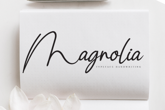 Print on Demand: Magnolia Script & Handwritten Font By flowerletter