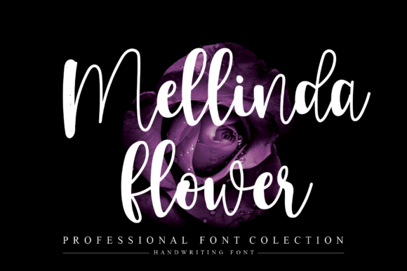 Print on Demand: Mellinda Flower Script & Handwritten Font By flowerletter