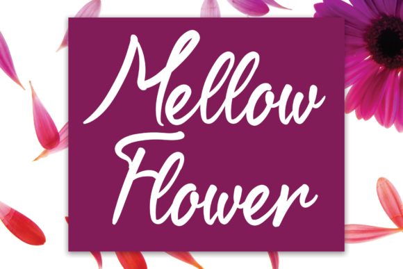 Print on Demand: Mellow Flower Script & Handwritten Font By flowerletter