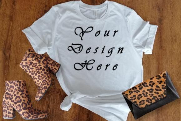 Mockups Female White T-shirt, Graphic Product Mockups By MockupsByGaby