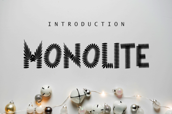 Print on Demand: Monolite Display Font By giatstudios