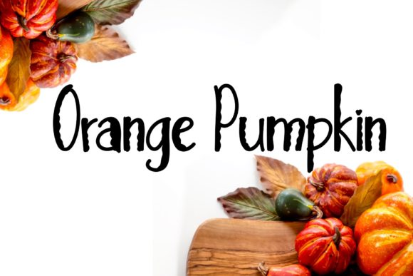 Print on Demand: Orange Pumpkin Display Font By Ansart