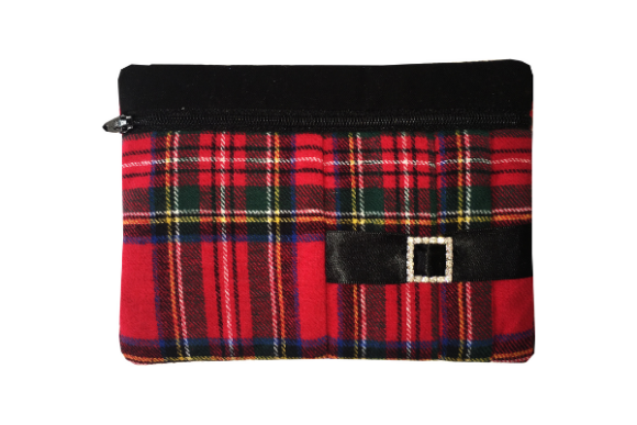 Pleated Kilt Clutch in the Hoop Embroidery