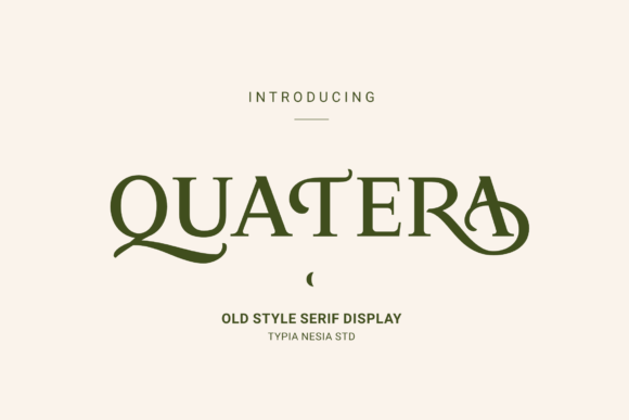 Print on Demand: Quatera Serif Font By Typia Nesia