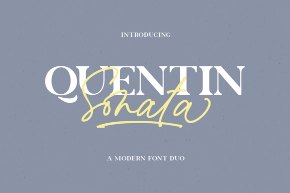 Print on Demand: Quentin Sonata Serif Font By Rillatype