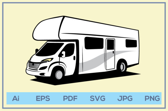 Print on Demand: RV Recreational Vehicle Design Graphic Illustrations By leamsign
