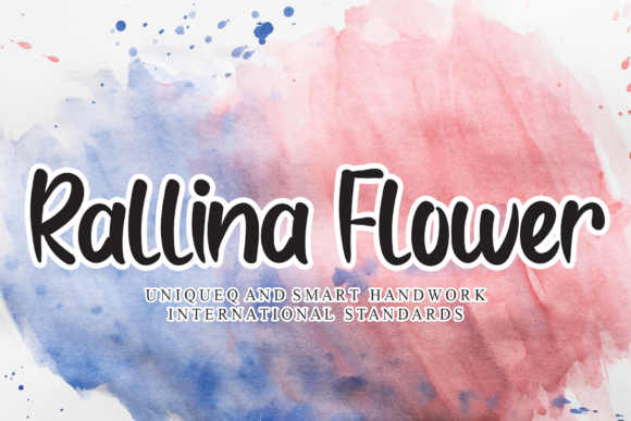 Print on Demand: Rallina Flower Script & Handwritten Font By LetterW26a