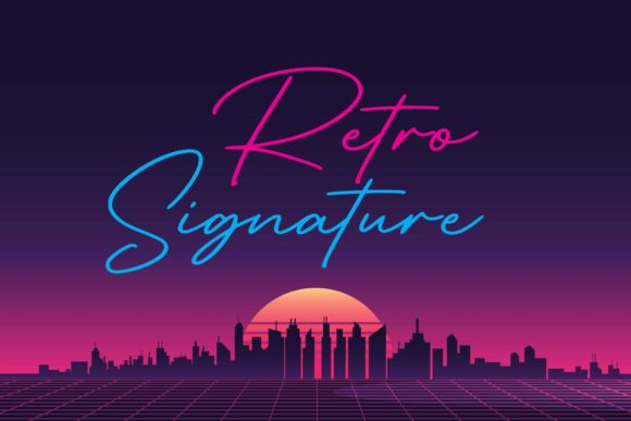 Print on Demand: Retro Signature Script & Handwritten Font By Sigit Dwipa
