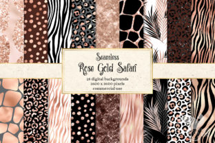 Print on Demand: Rose Gold Safari Digital Paper Graphic Textures By Digital Curio