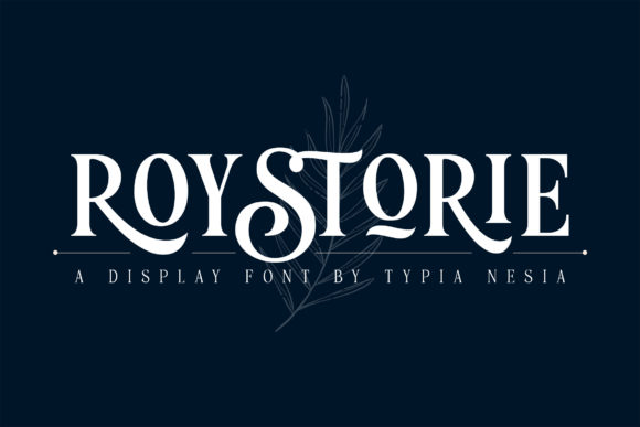 Print on Demand: Roystorie Serif Font By Typia Nesia