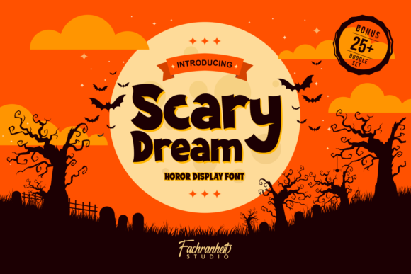 Print on Demand: Scary Dream Display Font By fachranheit
