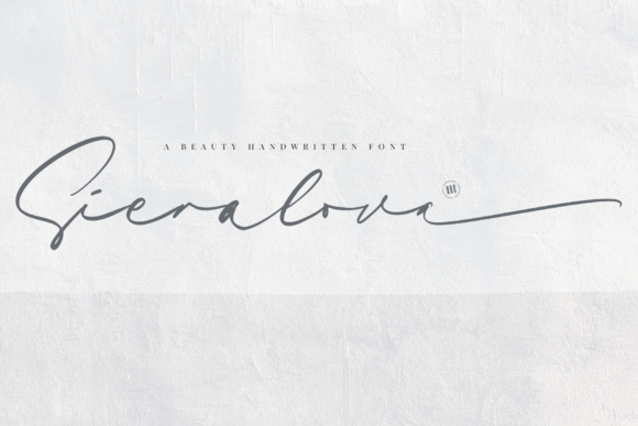Print on Demand: Sieralova Script & Handwritten Font By colllabstudio