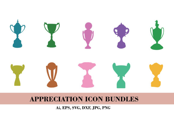 Silhouette of Appreciation Icon Bundle Graphic Illustrations By themagicboxart