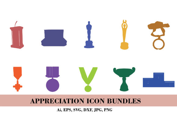Silhouette of Trophy Icon Bundle Graphic Illustrations By themagicboxart