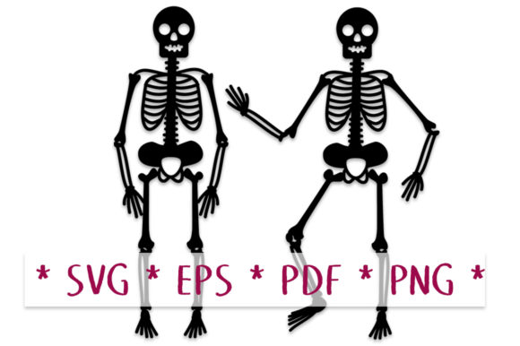 Skeletons SVG Cutting File Template Graphic Crafts By Nic Squirrell