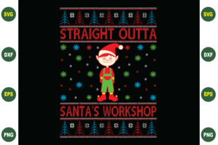 Print on Demand: Straight Outta Santa's Workshop Graphic Crafts By BDB_Graphics