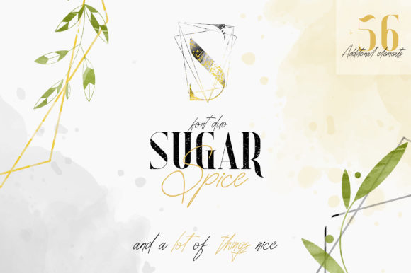 Print on Demand: Sugar Spice Serif Font By vladfedotovv