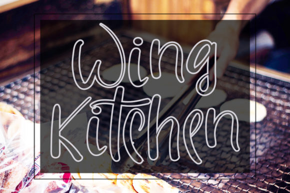 Print on Demand: Wing Kitchen Script & Handwritten Font By ONE DESIGN