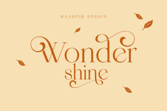 Print on Demand: Wonder Shine Serif Font By handpikdesign