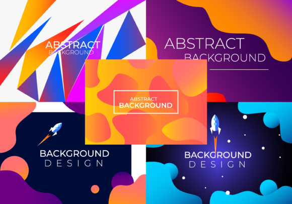 Gradient Abstract Backround Graphic Backgrounds By handles creative