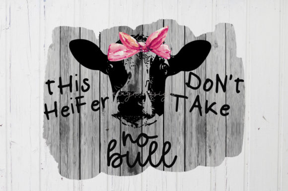 Sublimation Cow Heifer Farm Graphic Crafts By riryndesign