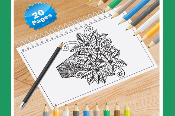 Print on Demand: 20 Flower Vase Coloring Pages for Adults Graphic Coloring Pages & Books Adults By Coloring World