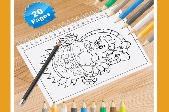 Print on Demand: 20 Hen Coloring Pages for Kids Graphic Coloring Pages & Books Kids By Coloring World